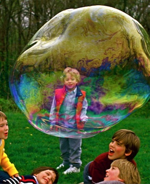 Giant Bubble Five Boys
